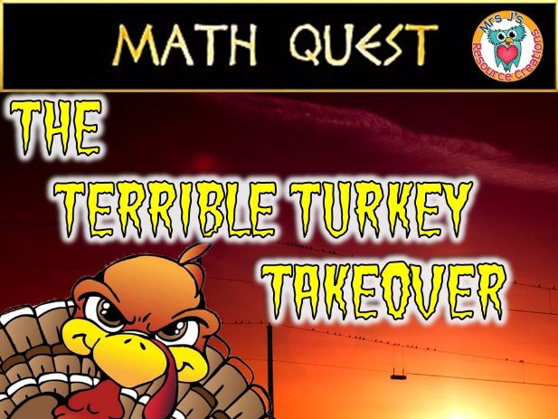 Thanksgiving Math Quest: The Terrible Turkey Takeover