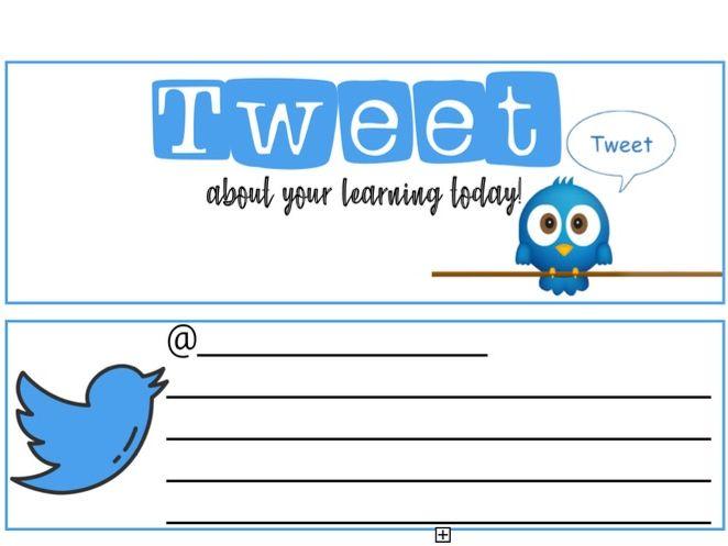 Tweet template