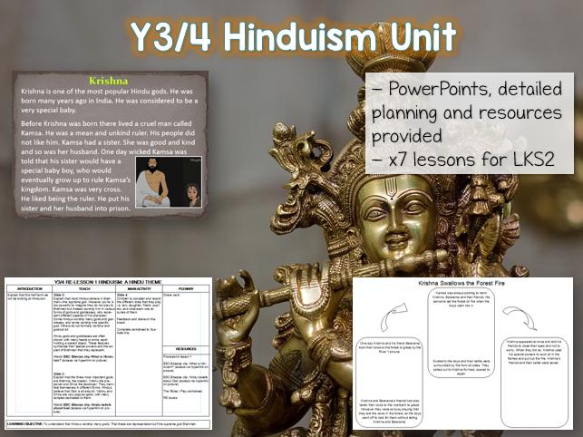 Y3 / Y4 Hinduism RE Unit - 7 lessons