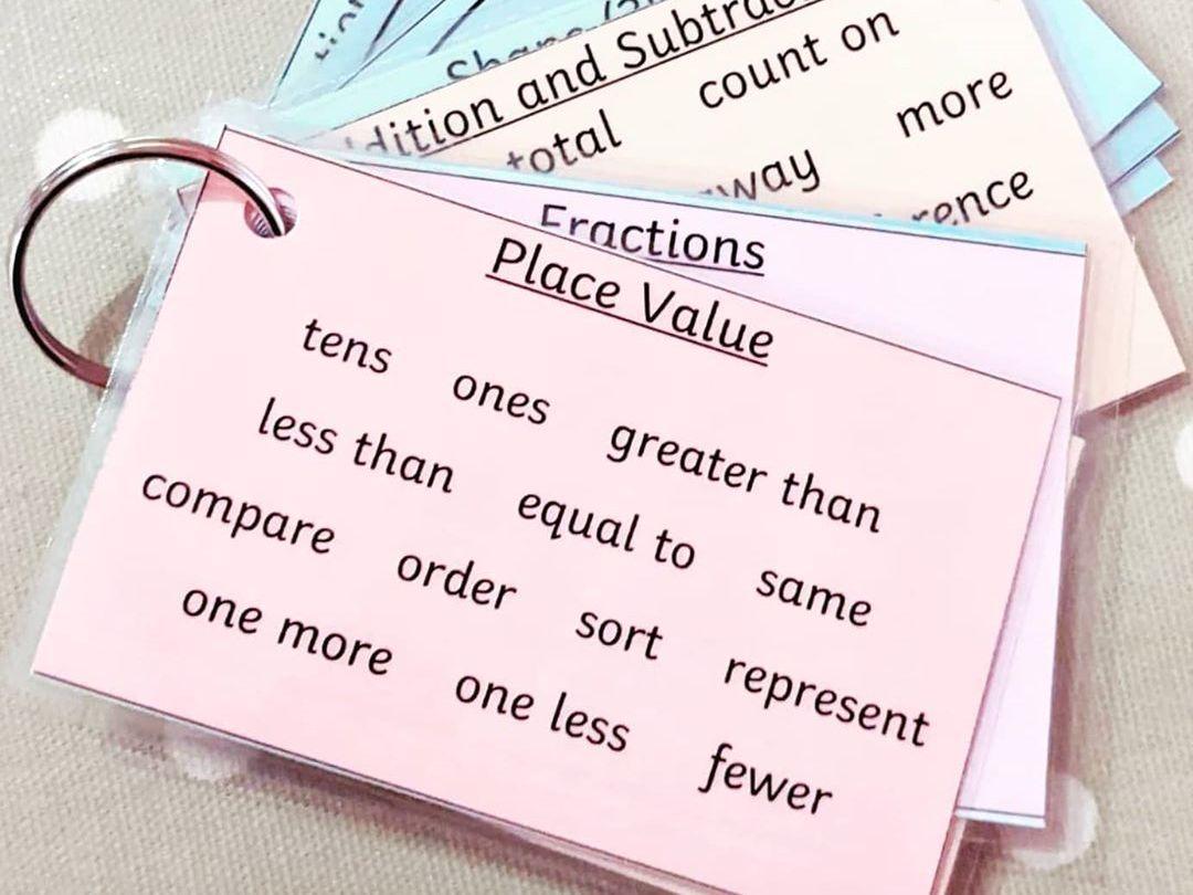 Year 1 Maths Vocabulary and Reasoning Keyrings