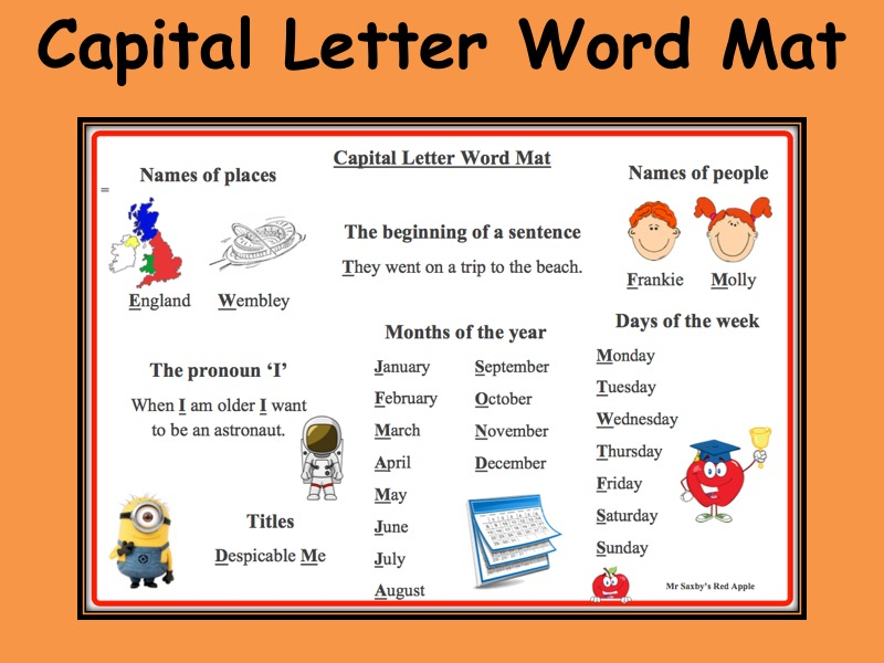 Capital Letter Word Mat