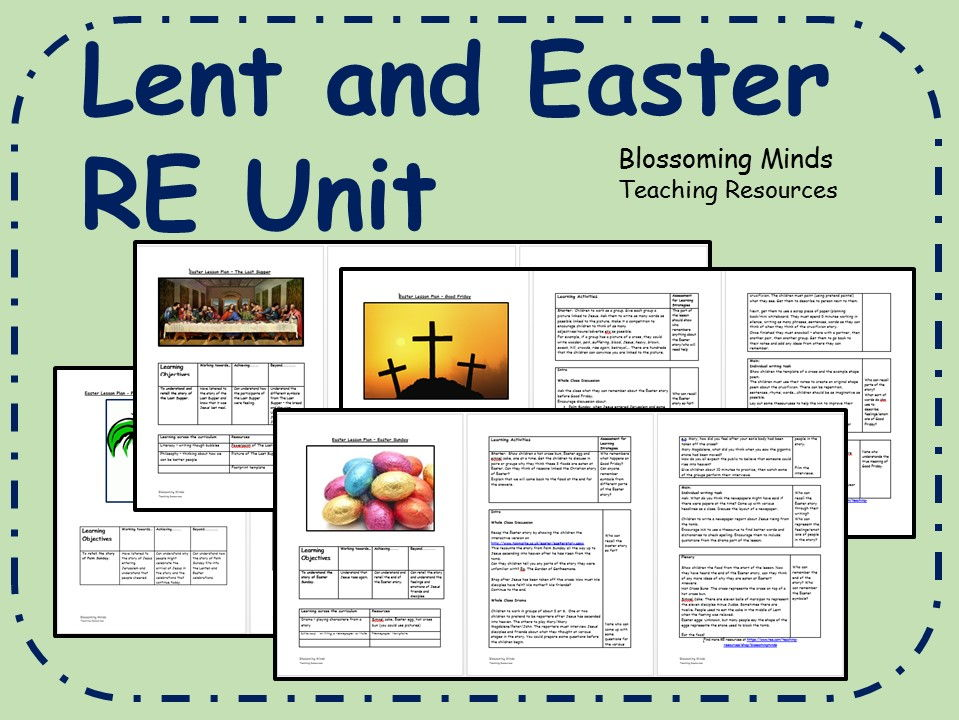 Lent and Easter RE Unit