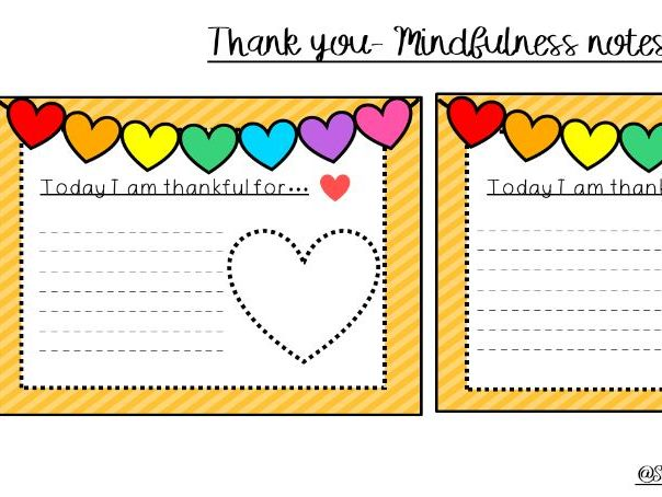 Thank You -mindfulness note