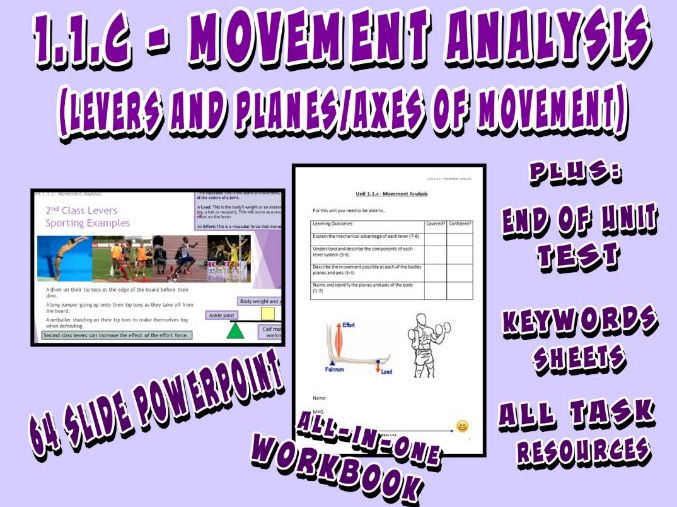 OCR GCSE PE 9-1 (2016) 1.1.c - Movement Analysis (Levers, Planes, Axes) - Unit of Work