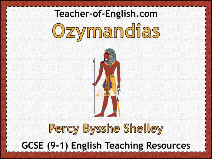Ozymandias (35 slide PowerPoint and 5 worksheets)