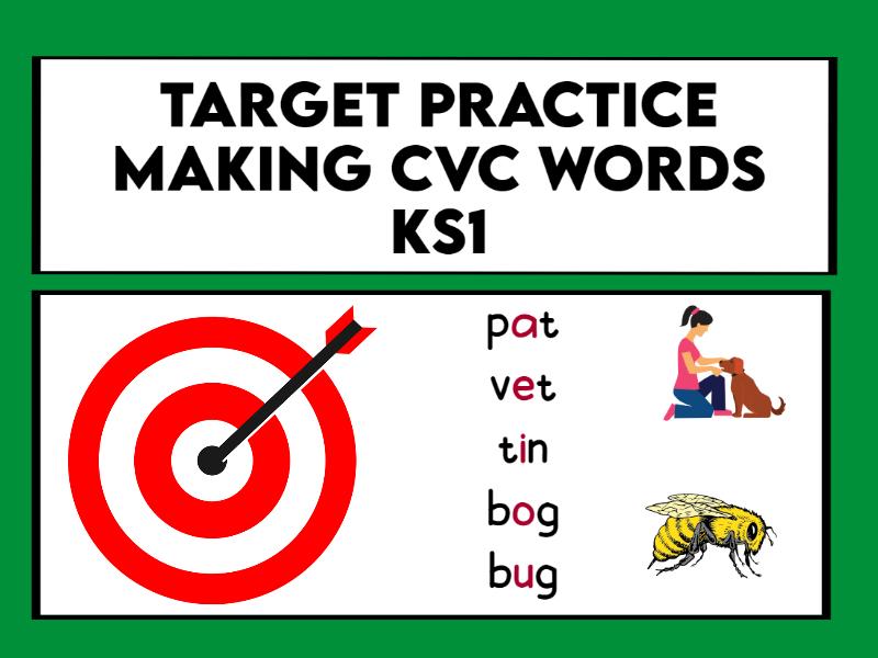 Target Practice Making CVC Words KS1
