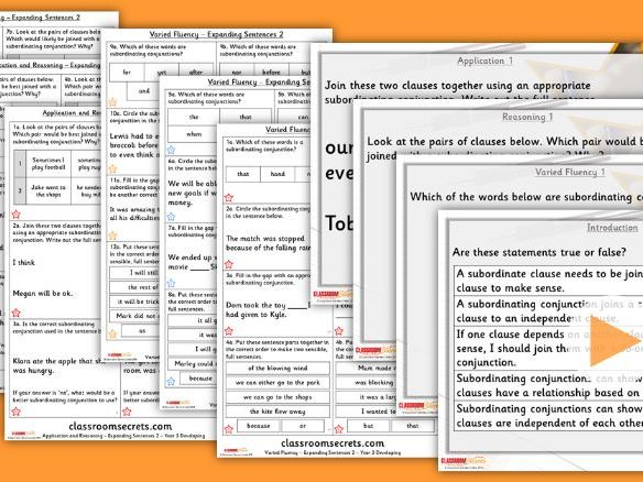 Grammar Year 3 Expanding Sentences 2 Autumn Block 1 Step 5 Lesson Pack