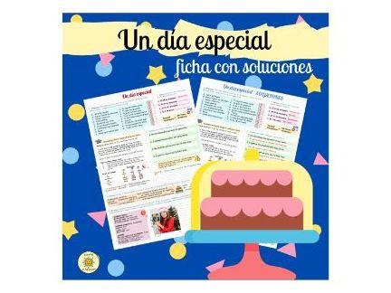 Un día especial. Celebraciones. Con soluciones. De costumbre.Spanish GCSE special ocassions. Answers