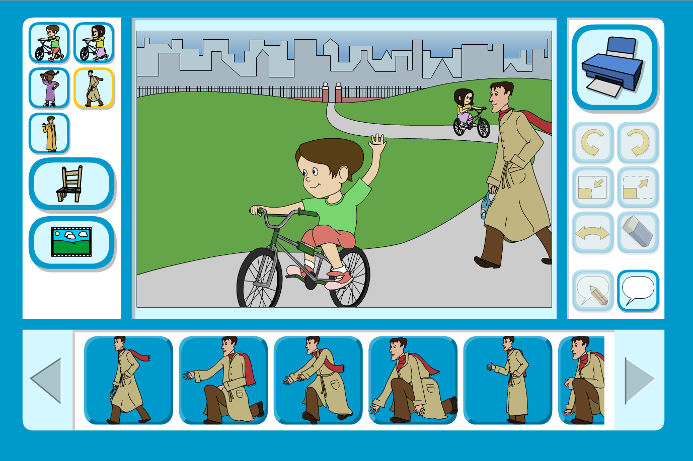 Sam and Ella at the Park Scene Focus - Interactive Activity - KS1 Literacy