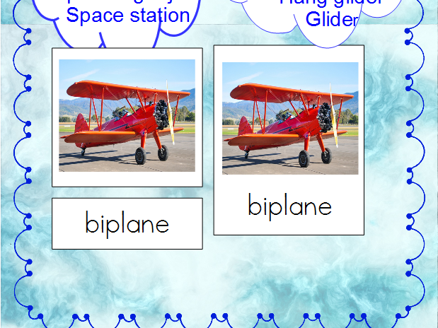 Air Transportation - Montessori 3-Part Cards