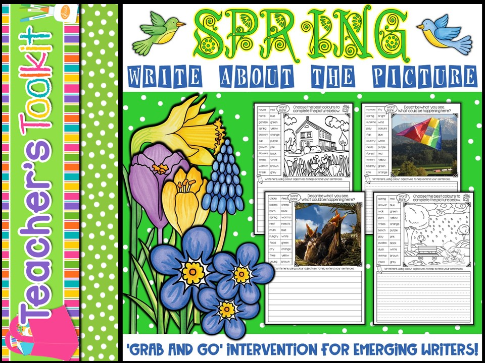 Spring Write About the Picture {also editable}