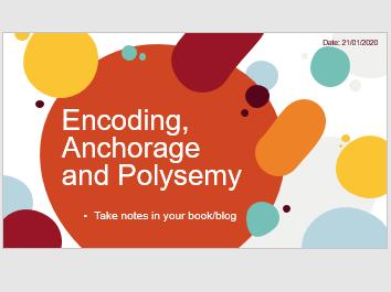 BTEC Creative Media Unit 1: Encoding, Anchorage and Polysemy