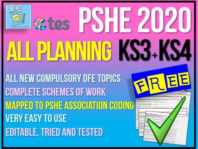 PSHE Planning