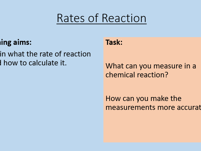AQA C8.1 Rate of Reaction