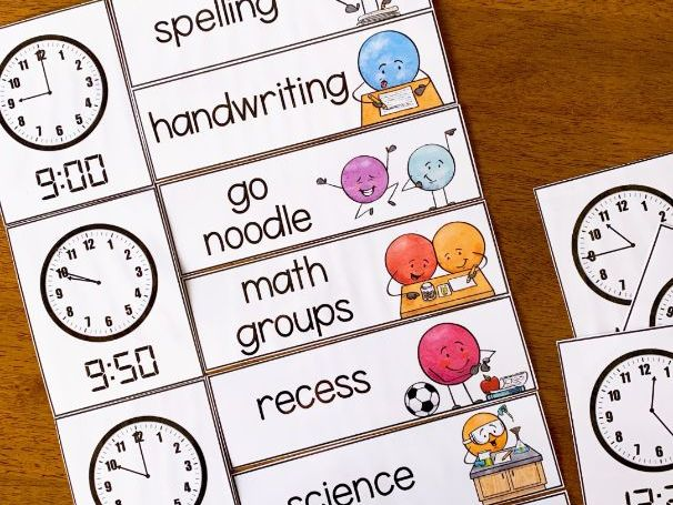 DOT DUDES Visual Timetable Editable Rectangular Cards