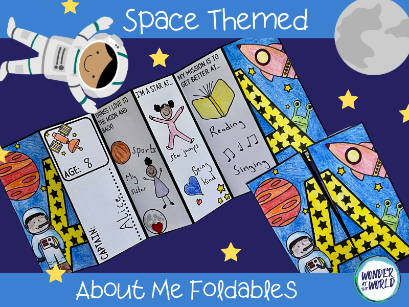 Outer space all about me foldables