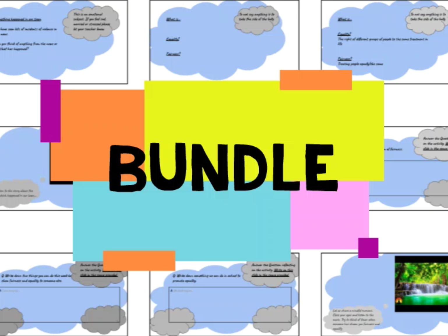 Primary WFH or Classroom PSHE/Mindfulness Story  Bundle
