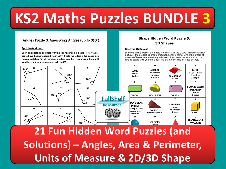 Maths Puzzles 3 (Worksheets)