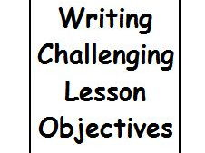 Writing challenging lesson objectives & matching activities