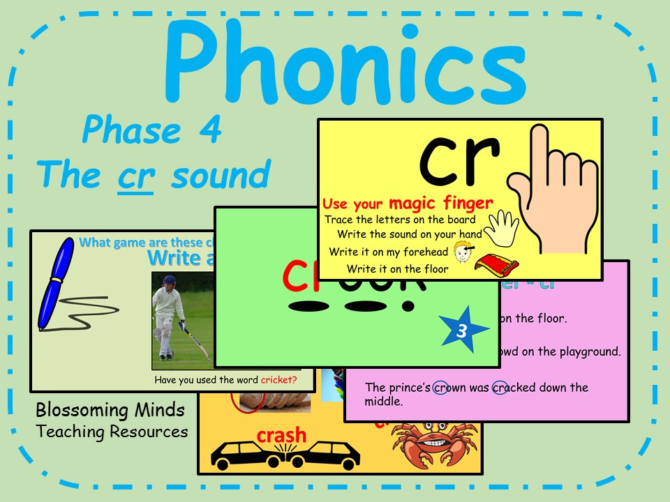 Phonics phase 4 - Consonant blends - The 'cr' sound