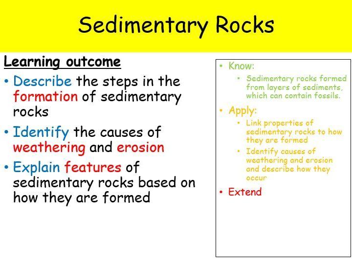 Year 7 - Sedimentary Rock (Full lesson - 1 hour)