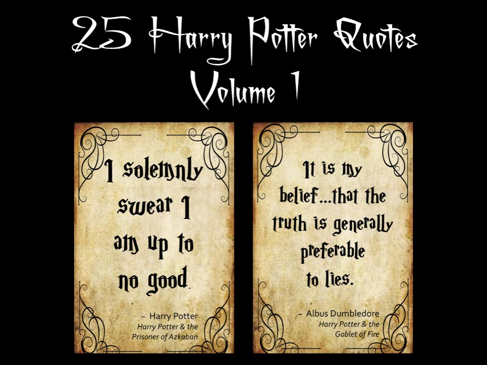 25 Harry Potter Quotes Volume 1