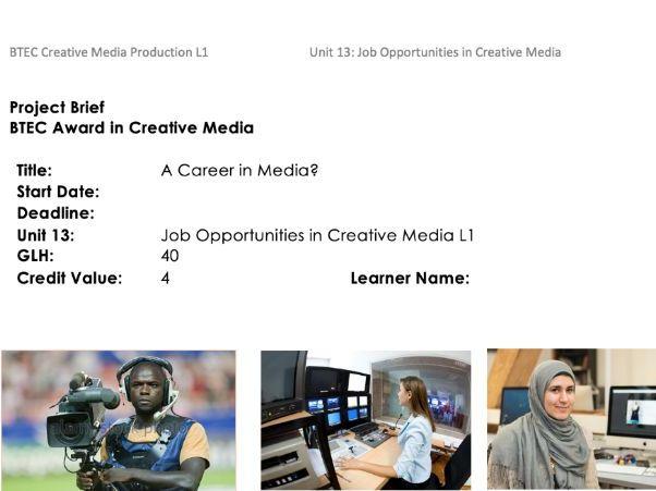Job Opportunities in Creative Media L1