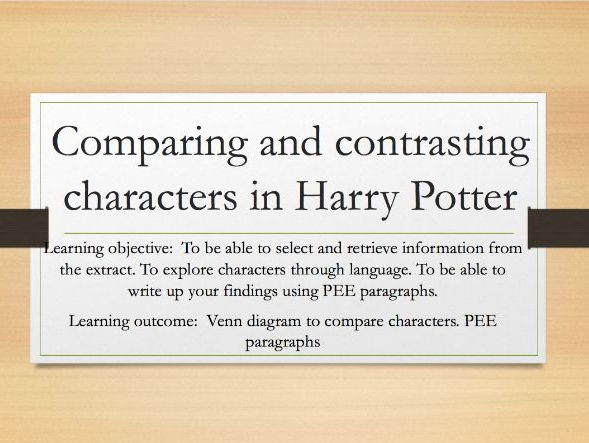 Comparing and Contrasting Characters in Harry Potter