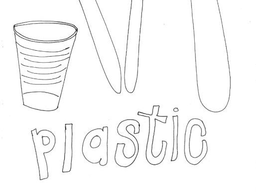 Plastic: Recycling and Materials Colouring Page