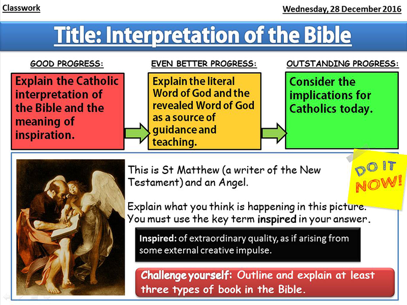 Interpretation of the Bible: Lesson 2 - Sources of Wisdom and Authority
