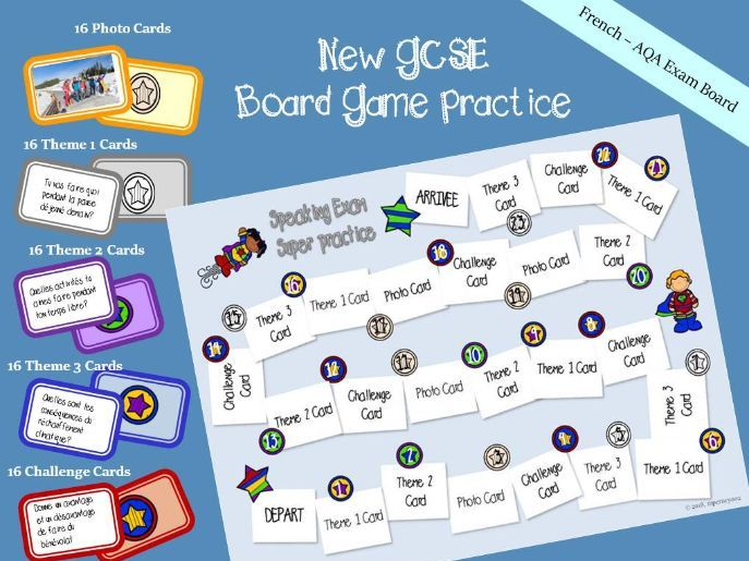New GCSE - Question board game - French speaking exam
