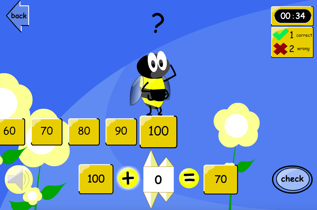 Up or Down the Number Line?  Equations Interactive Game - KS2 Number