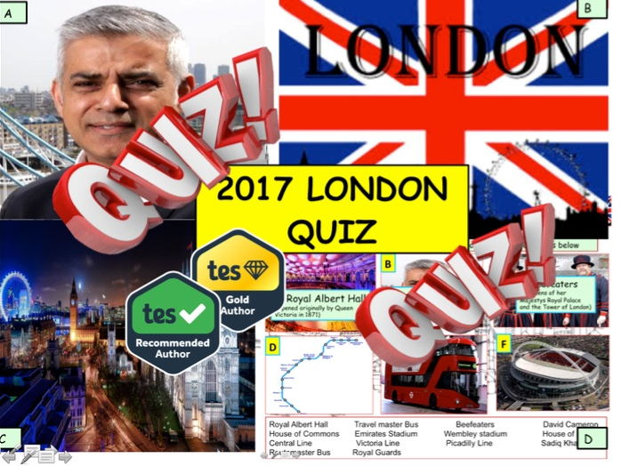 2017 London Quiz - 7rounds and 40 Questions. End of term year Quiz Citizenship (British Values)