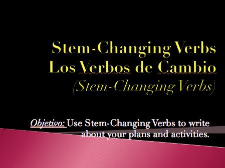 Spanish Stem-Changing Verbs Mini-Bundle