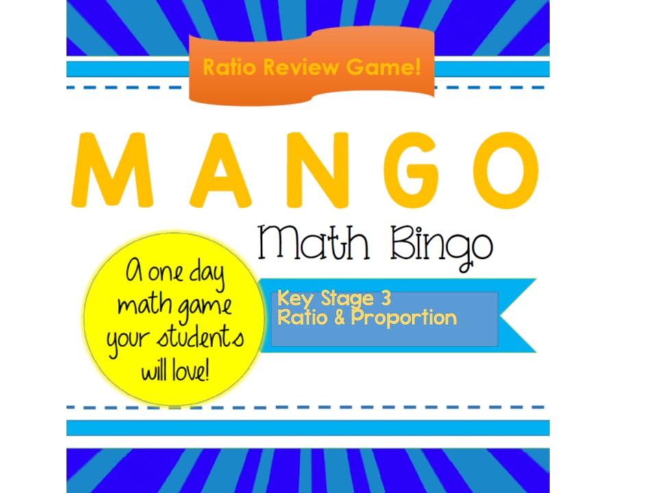 Ratio & Rate MANGO (Maths Bingo) KS3