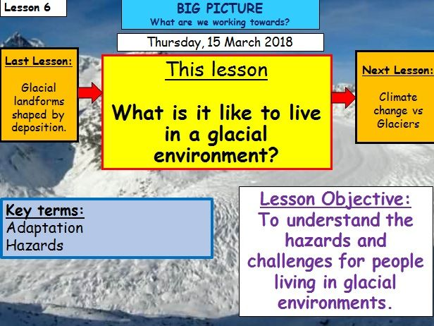 Glaciation - Lesson 6 - What is it like to live in a glacial environment?