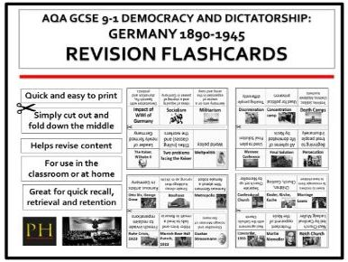 Germany Revision Flashcards  9-1 AQA