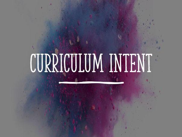 Drama Curriculum Intent