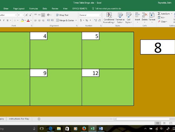 Quick Times Tables Game