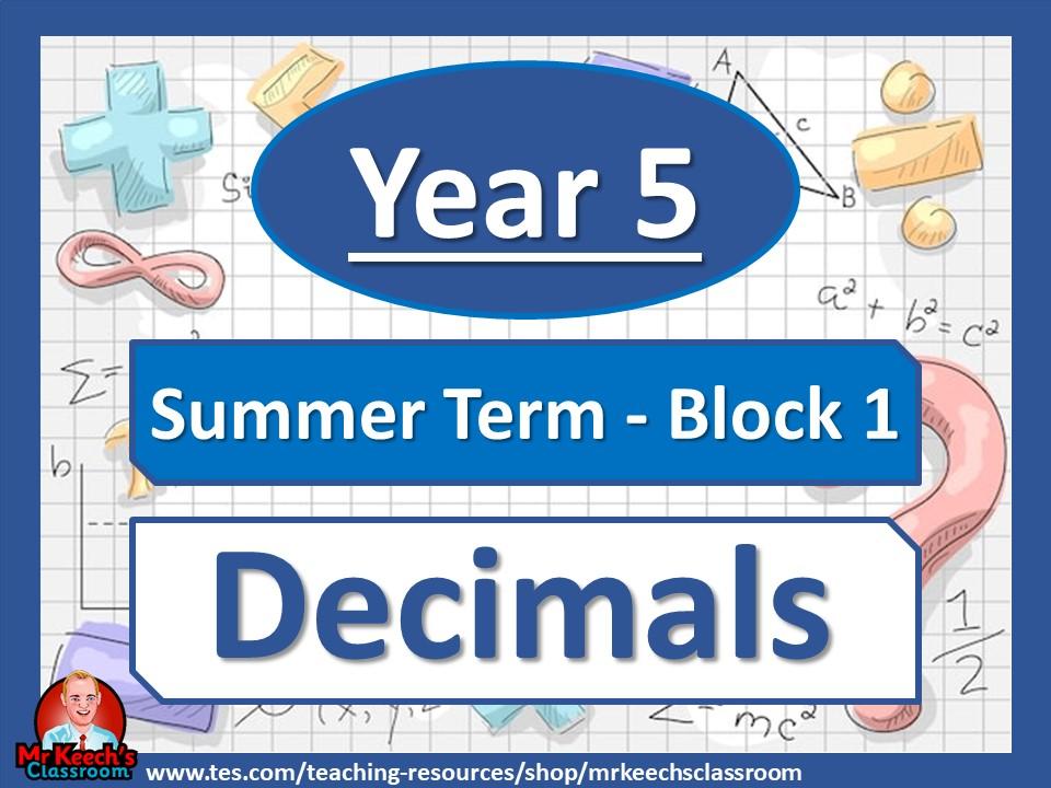 Year 5 - Decimals - Summer Block 1 - White Rose Maths