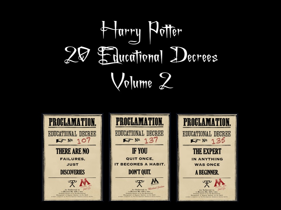 Harry Potter Growth Mindset Educational Decree Posters Volume Two