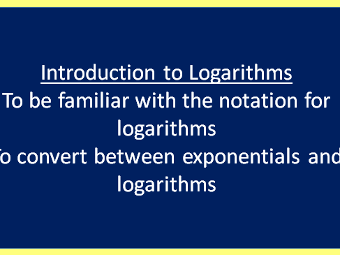 AS Maths Core 2 AQA - Introduction to Logarithms