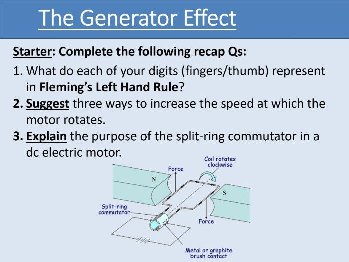 GCSE Physics - The Generator Effect - Unit 7.3.1-7.3.3 (AQA 9-1)