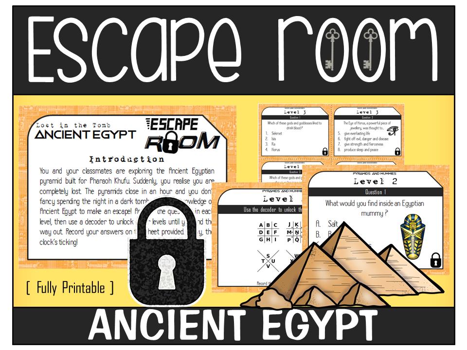 ANCIENT EGYPT ESCAPE ROOM KS2