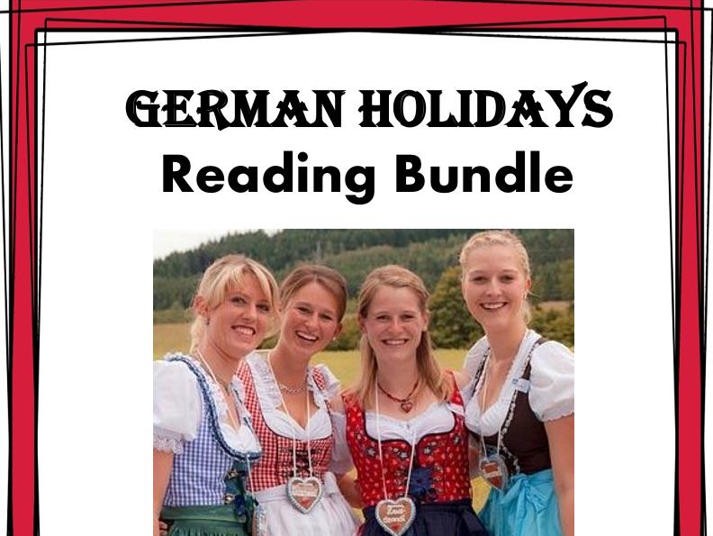 German Holiday Reading Bundle: Oktoberfest, Weihnachten, Ostern Top 5@40% off!