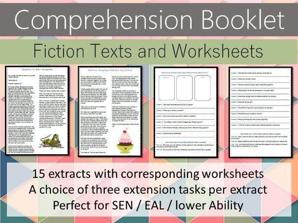 Comprehension Booklet - Fiction Texts - SEN - Lower Ability - EAL