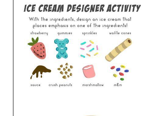 Principles of Design - Ice Cream Designer Task (Worksheet)