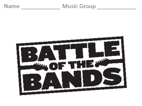 KS3 Battle of the Bands - Topic Booklet