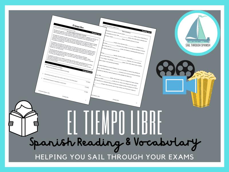 El tiempo libre: Spanish GCSE Reading, Vocab, Translation & Writing Practice