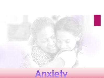 Anxiety : Presentation - Classroom; assembly; PSHE